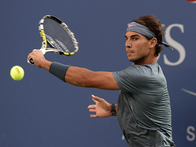 Rafael Nadal in action against Novak Djokovic during the US Open men's singles final on September 9, 2013