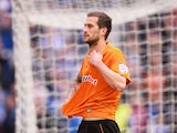 Roger Johnson of Wolverhampton Wanderers looks dejected following relegateion after the npower Championship match between Brighton & Hove Albion and Wolverhampton Wanderers at Amex Stadium on May 4, 2013