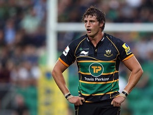 Northampton's Tom Wood in action during the match against Edinburgh on August 23, 2013