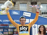 Bradley Wiggins celebrates his Tour of Britain win on September 22, 2013