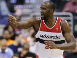 Washington Wizards' Emeka Okafor in action against Detroit Pistons on February 27, 2013