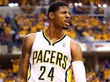 Indiana Pacers' Paul George in action against Miami Heat on June 1, 2013