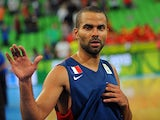 France's Tony Parker in action during the FIBA Eurobasket championships semi-final match against Spain on September 20, 2013