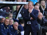Manager of Derby County Steve McClaren looks on during the Sky Bet Championship match between Derby County and Leeds United at Pride Park Stadium on October 05, 2013
