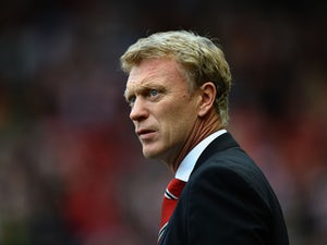 David Moyes, manager of Manchester United looks on during the Barclays Premier League match between Sunderland and Manchester United at the Stadium of Light on October 5, 2013