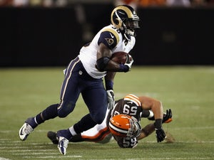 Rams RB Zac Stacy in action against Cleveland on August 8, 2013