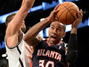 Atlanta Hawks' Dahntay Jones in action against Brooklyn Nets on March 17, 2013