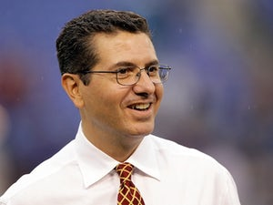 Washington Redskins owner Dan Snyder walks the sidelines prior to the start of a preseason game against the Baltimore Ravens at M&T Bank Stadium on August 25, 2011