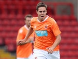 Rob Edwards of Blackpool in action during the pre-season friendly match between Bristol City and Blackpool at Ashton Gate on July 31, 2010