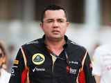 Lotus Team Principal Eric Boullier walks in the paddock following qualifying for the Korean Formula One Grand Prix at Korea International Circuit on October 5, 2013