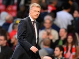 Manchester United manager David Moyes leaves the pitch after the English Premier League football match between Manchester United and Southampton at Old Trafford in Manchester, north-west England, on October 19, 2013