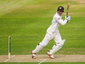 Tom Maynard of Surrey picks up some runs during day one of the LV County Championship division one match between Surrey and Warwickshire at The Kia Oval on May 23, 2012