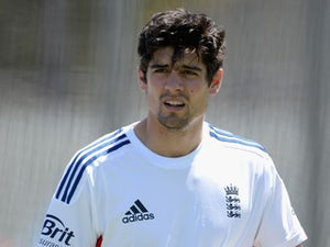 England captain Alastair Cook during a nets session at the WACA on October 27, 2013