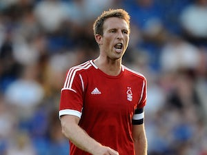 Danny Collins of Nottingham Forest during the Pre Season Friendly match between Chesterfield and Nottingham Forest at Proact Stadium on July 16, 2013