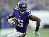 Greg Jennings of the Minnesota Vikings carries the football during the game against the Cleveland Browns on September 22, 2013