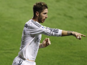 Ramos unhappy with the ref