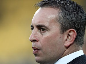 Coach Steve McNamara of England looks on during the Four Nations match between the New Zealand Kiwis and England at Westpac Stadium on October 23, 2010