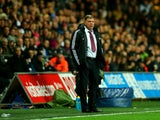 Manager Sam Allardyce of West Ham during the Barclays Premier League match between Swansea City and West Ham United at Liberty Stadium on October 27, 2013
