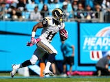 Tavon Austin of the St. Louis Rams in action against Carolina at Bank of America Stadium on October 20, 2013