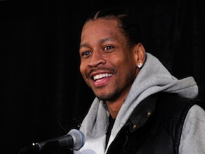 Basketball player Allen Iverson smiles during a news conference at the Thomas & Mack Center to announce the Las Vegas Superstar Challenge October 26, 2011