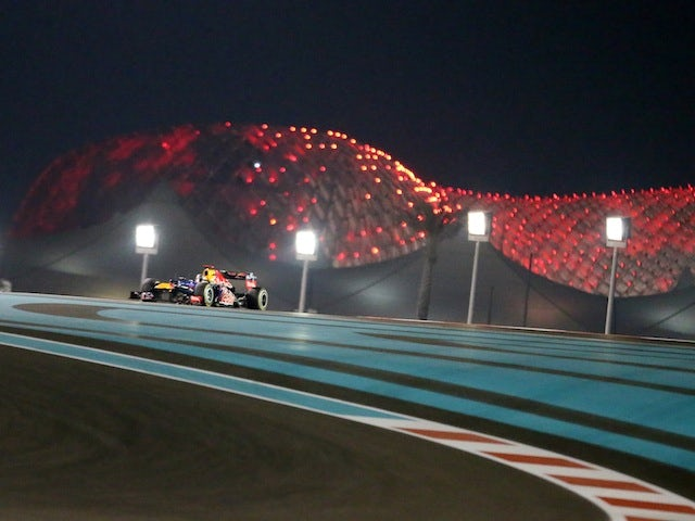 Red Bull driver Sebastian Vettel drives around the Yas Marina circuit during the Abu Dhabi Grand Prix on November 4, 2012