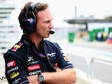 Red Bull team principal Christian Horner watches on during qualifying for the Brazilian Grand Prix on November 24, 2012