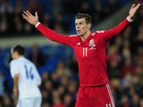 Gareth Bale appeals for a foul during Wales's match with Finland on November 16, 2013.