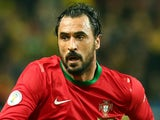 Hugo Almeida of Portugal runs during the FIFA 2014 World Cup Qualifier Play-off Second Leg match between Sweden and Portugal at Friends Arena on November 19, 2013