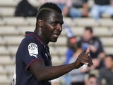 Bordeaux's Malian forward Cheick Diabate gestures during the French L1 football match between Bordeaux and Montpellier on October 27, 2013