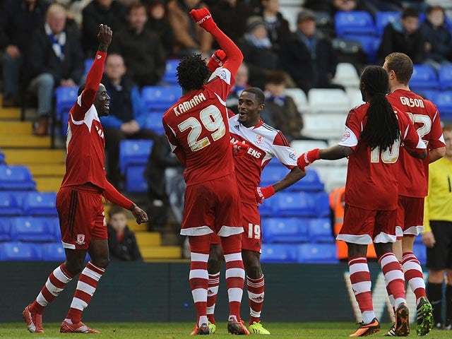 Result: Boro ease to victory