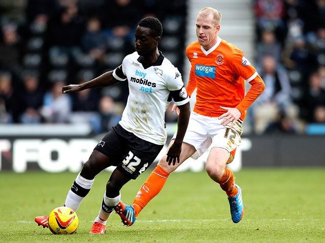 Result: Derby hit five past nine-man Blackpool