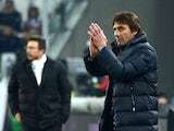 Juventus' coach Antonio Conte gestures during their Serie A football match Juventus vs Sassuolo at 'Juventus Stadium' in Turin on December 15, 2013