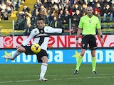 Marco Marchionni of Parma FC scores his team's second goal during the Serie A match between Parma FC and Torino FC at Stadio Ennio Tardini on January 6, 2014
