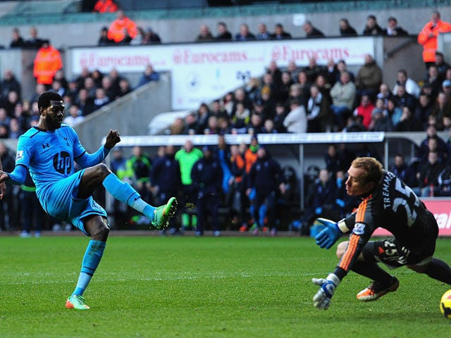 Result: Adebayor inspires Spurs win