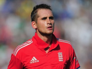 England batsman Alex Hales leaves the field after his 94 during the 2nd NatWest series T20 match between England and Australia at Emirates Durham on August 31, 2013