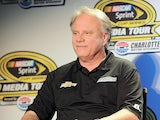 Stewart-Haas Racing co-owner Gene Haas at a press conference during NASCAR Sprint Media Tour at Charlotte Convention Center on January 27, 2014