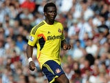 Sunderland's Modibo Diakite in action against West Brom during their Premier League match on September 21, 2013