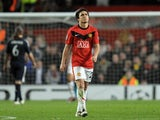 Manchester United defender Rafael da Silva leaves the pitch after being sent off against Bayern Munich on April 07, 2010.