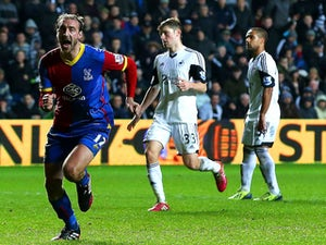 Glenn Murray of Crystal Palace celebrates scoring the equalising goal from the penalty spot during the Barclays Premier League match against Swansea City on March 2, 2014