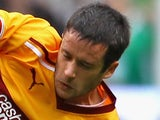 Tim Clancy of Motherwell during the Clydesdale Bank Premier League match between Celtic and Motherwell on September 10, 2011