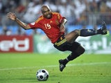 Marcos Senna in action for Spain on June 29, 2008.