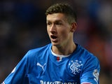 Fraser Aird of Rangers reacts during the The William Hill Scottish Cup Third Round match between Rangers and Airdrieonians at Ibrox Stadium on November 1, 2013