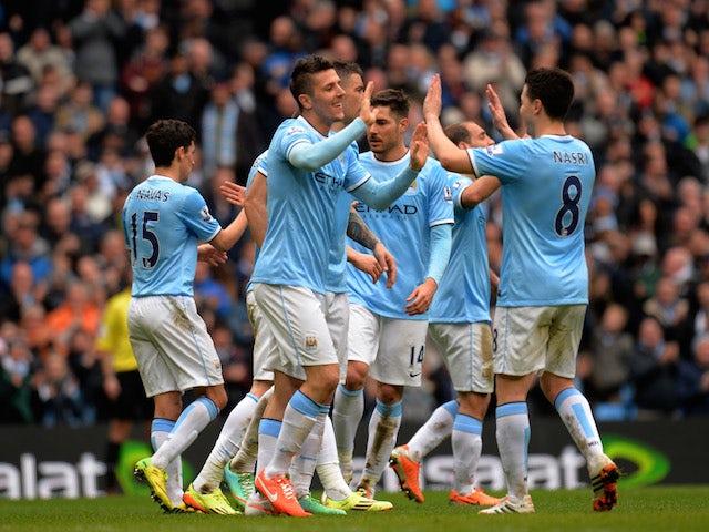 Result: City keep pressure on Liverpool