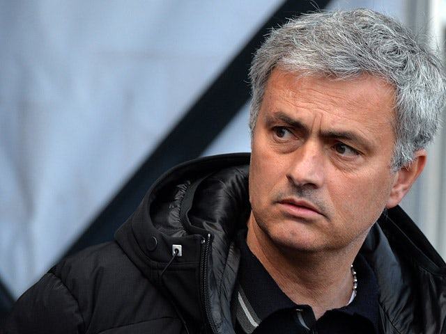 Chelsea manager Jose Mourinho prior to kick-off against Swansea in the Premier League match on April 13, 2014