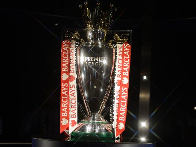 Premier League Trophy taken on March 28, 2014