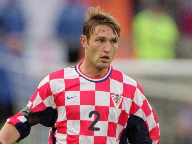 Defender Robert Kovac in action for Croatia on August 15, 2001.