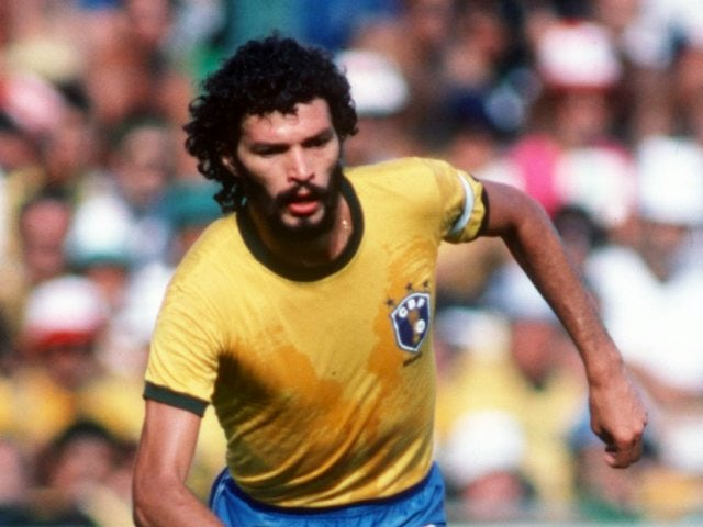Socrates in action for Brazil on July 01, 1982.