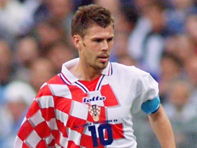 Zvonimir Boban in action for Croatia on July 08, 1998.