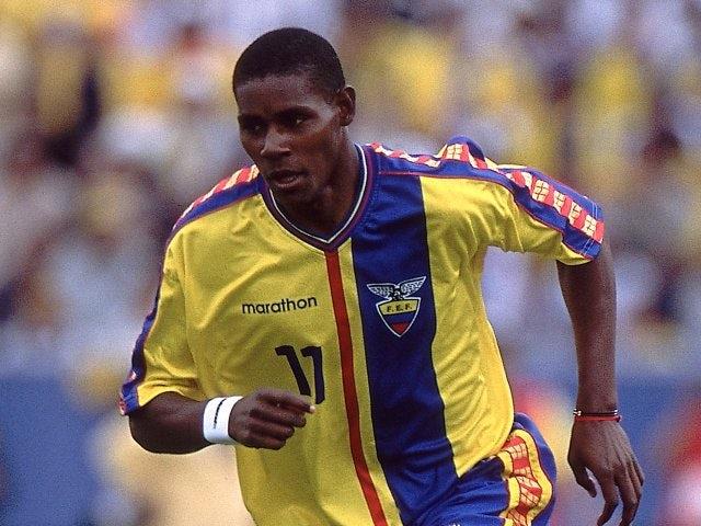 Former Southampton striker Augustin Delgado in action for Ecuador on March 28, 2001.