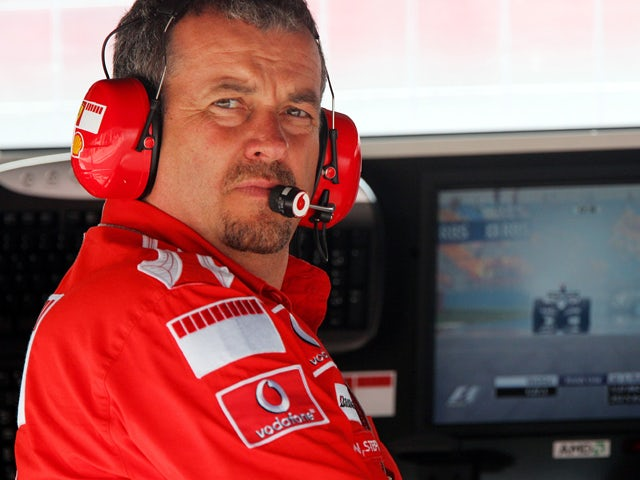 Ferrari Technical Race Manager Nigel Stepney watches the action from the pit wall during the Turkish Formula One Grand Prix at Istanbul Park on August 21, 2005